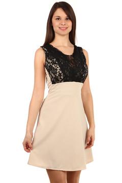 Exkluzivní šaty s krajkou a kamínkovou ozdobou f3f9616d7cc