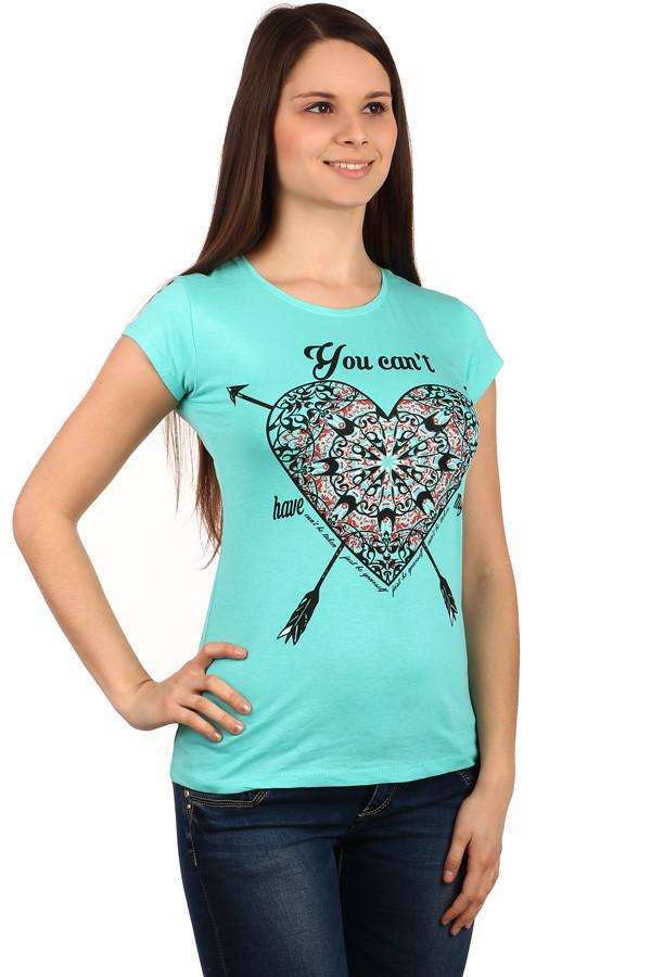 Dámské triko s potiskem srdce f5a75a109b