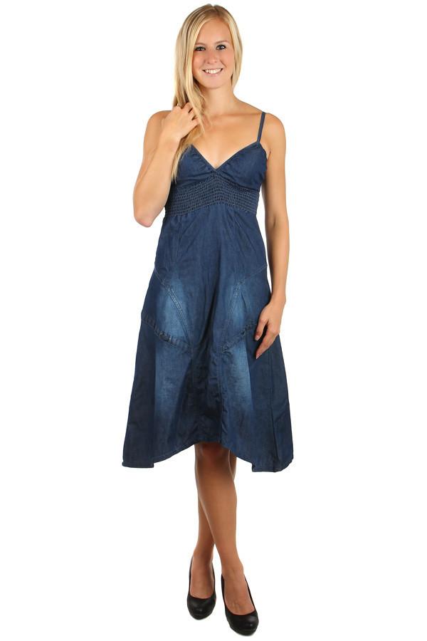Dámské volné riflové šaty d35c1d5c99c
