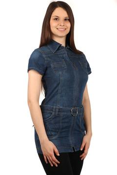 0158cab9ef35 Extravagantní dámské džínové šaty