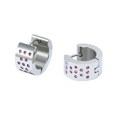 Náušnice kroužky s růžovými kamínky 325fe2ceb53