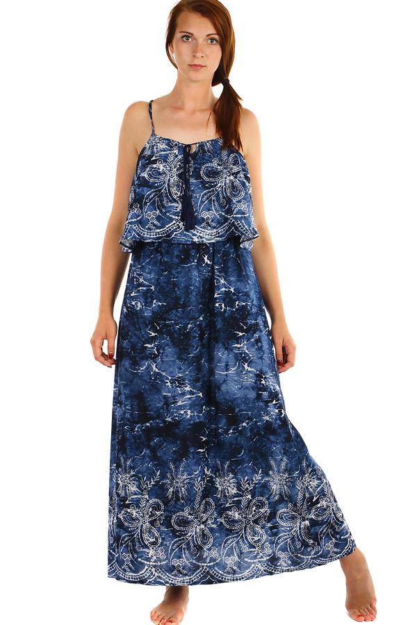 Dlouhé batikované letní maxi šaty a6ebe6966fb