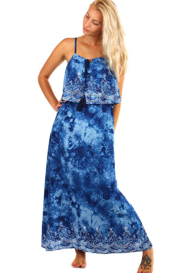 Batikované maxi šaty s potiskem - i pro plnoštíhlé 89a2fa5437