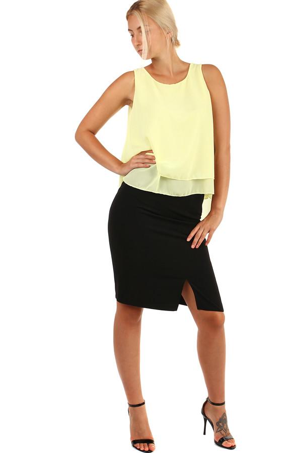 7b481436bb8 Dámská černá business sukně - i pro plnoštíhlé