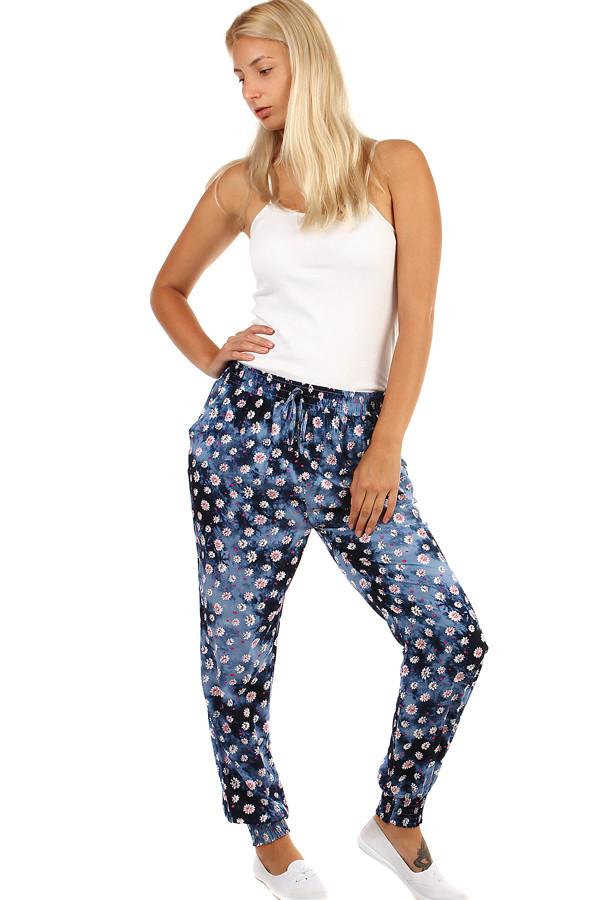 Dámské batikované kalhoty s potiskem 95b7150041