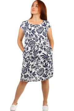 Lněné volné šaty s rostlinným vzorem - i pro plnoštíhlé 699 Kč 985 Kč 35fff78ce4