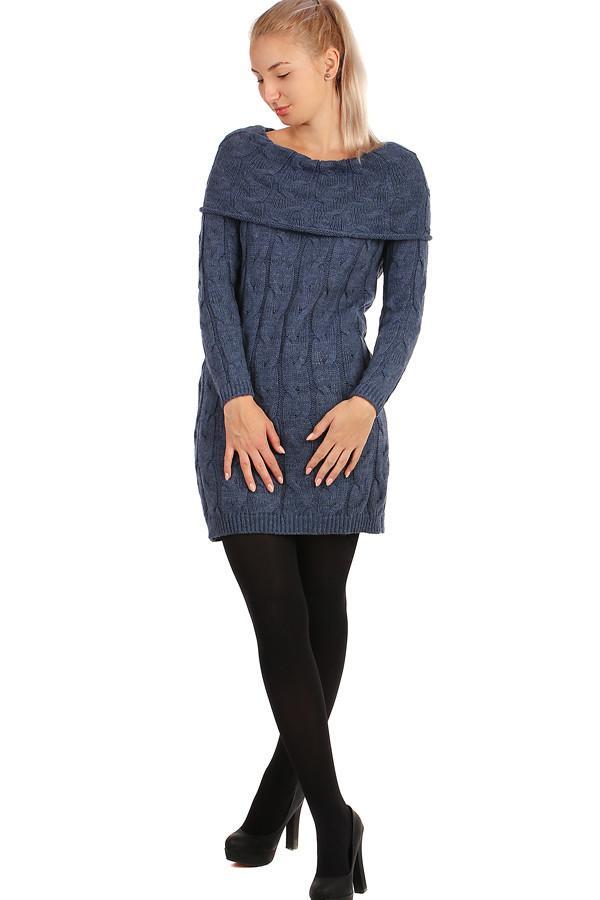 Pletené dámské šaty s dlouhým rukávem e419a9a681