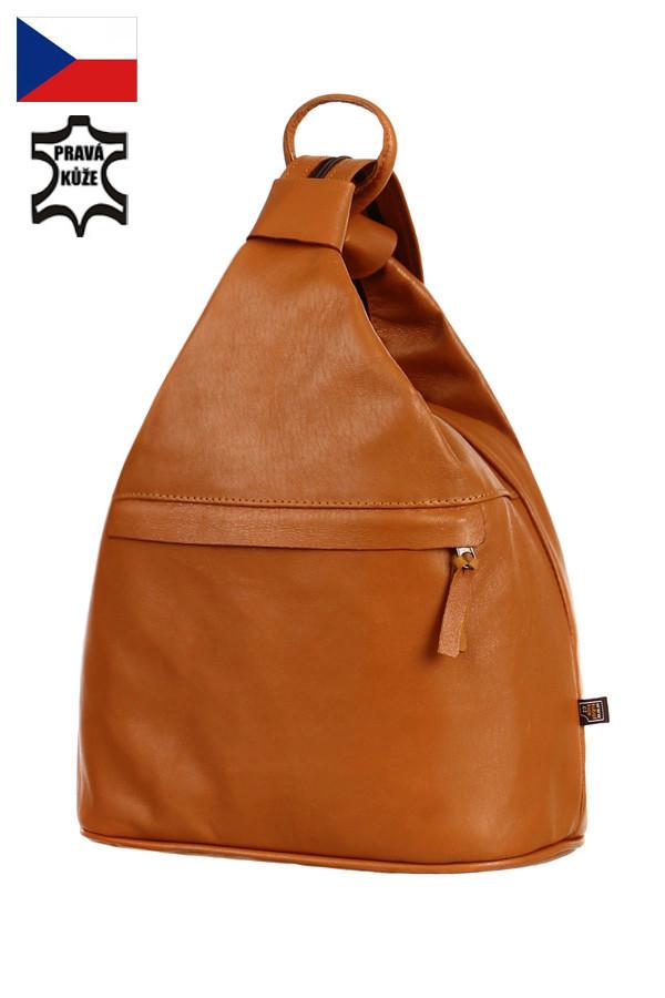 1210249bf6 Kožený batoh kabelka na jedno rameno 3v1 - velký - Česká výroba