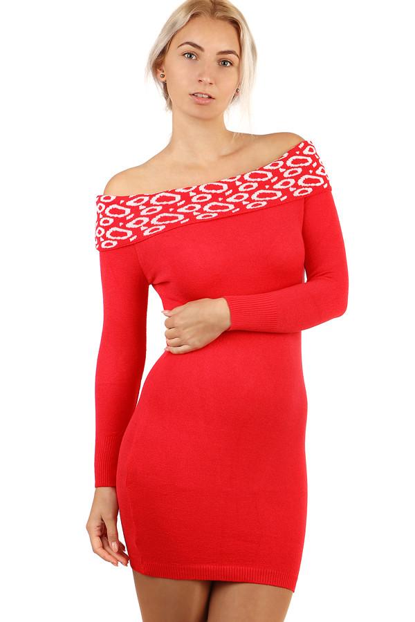 9f8f94b5a9d3 Dámské pletené šaty s odhalenými rameny