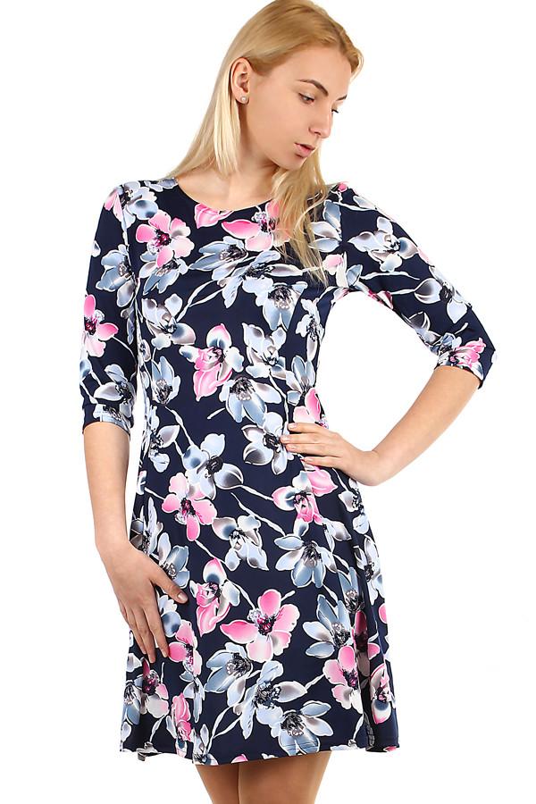 98783022eff Dámské šaty s potiskem - i pro plnoštíhlé