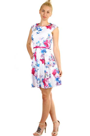 Áčkové dámské retro šaty s květinovým potiskem 982f1bd83c