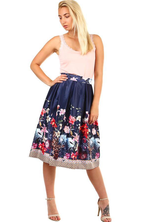 820891a1c4d Dámská skládaná áčková retro sukně s potiskem