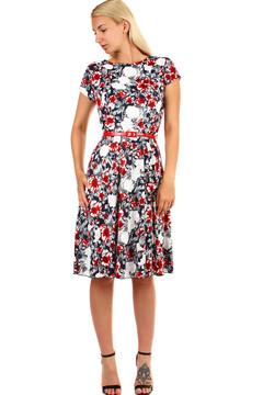 Dámské retro šaty s potiskem - i pro plnoštíhlé 955 Kč 1655 Kč 5901eea4c9
