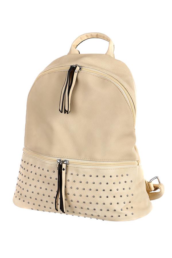Dámský koženkový batoh s cvočky c94ee906a5