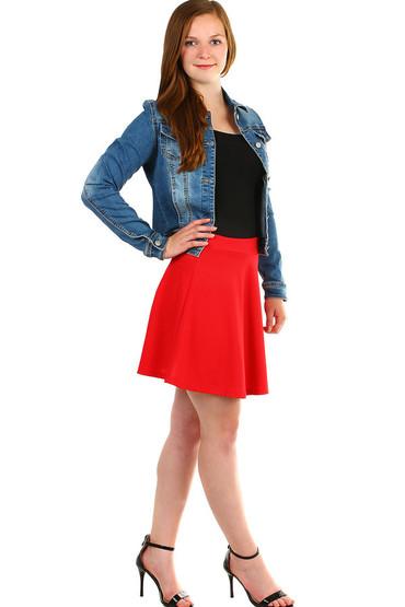 Jednobarevná dámská krátká sukně e4f2025288