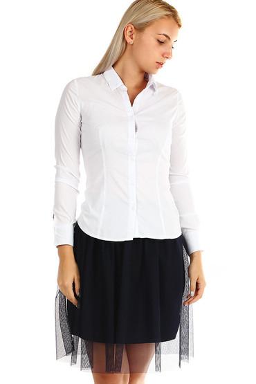 a220a65dbe0 Dámská bílá košile s dlouhým rukávem