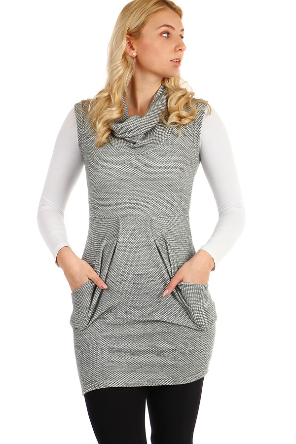 Dámské zimní šaty bez rukávů 3725e8833c