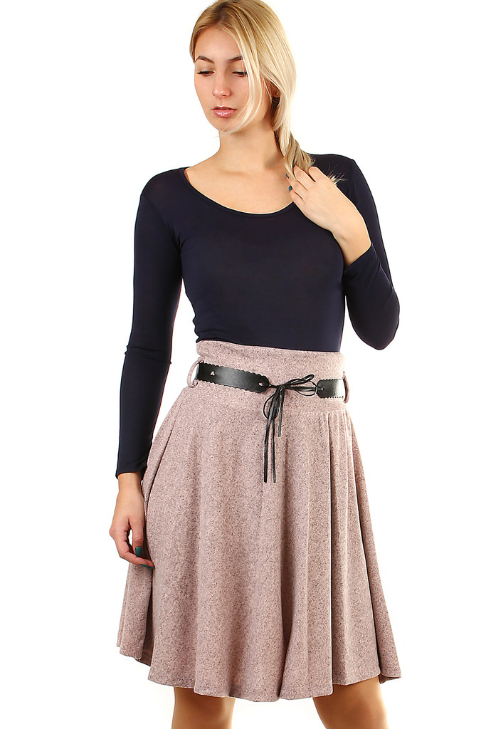 3924c5e61dc Podzimní dámská áčková sukně ke kolenům