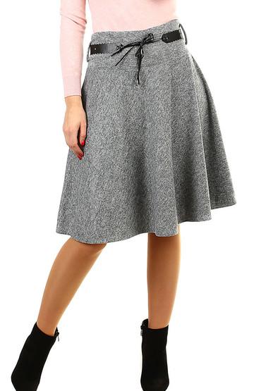 Podzimní dámská áčková sukně ke kolenům ffeaed759b