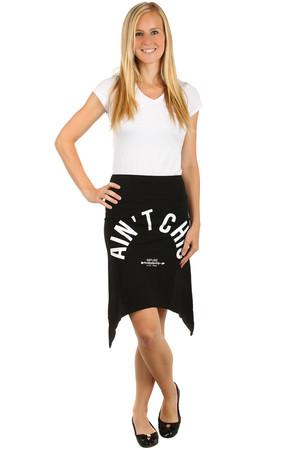 7421b74a7375 Dámská letní sukně s cípy a potiskem