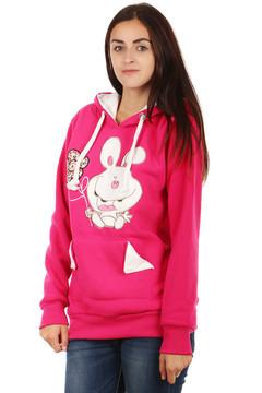 růžová Dámská mikina s obrázkem a ušima na kapuci 349 Kč 590 Kč f707c8360b
