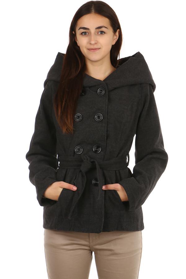 Dámský flaušový kabát s kapucí - i pro plnoštíhlé e13e60448f