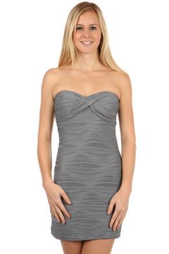 e98798c7393 Bílo-černé pouzdrové šaty se zeštíhlujícím efektem II.jakost