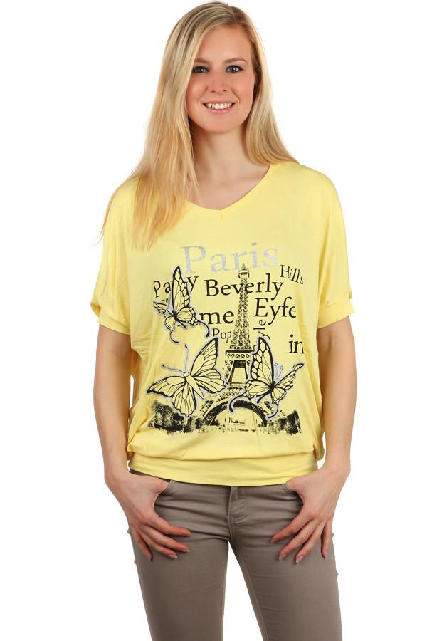 Dámské volné tričko netopýří rukáv e3888818d8