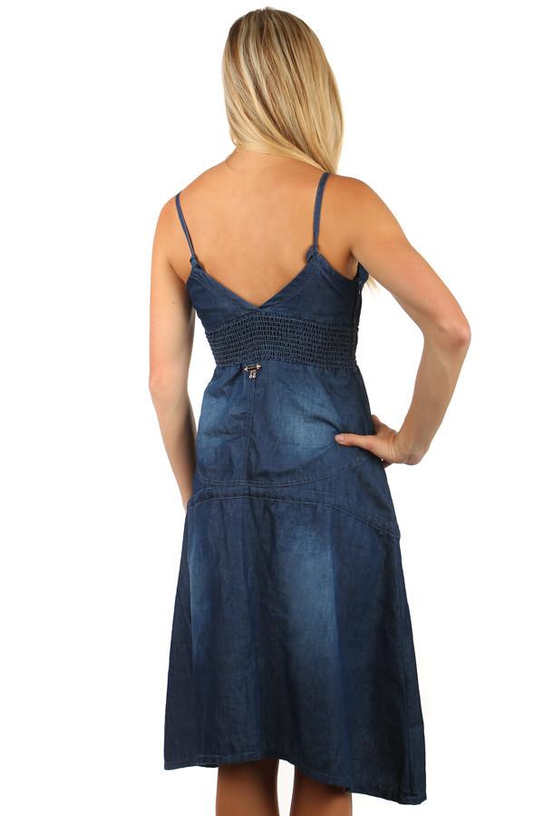 Může se Vám také líbit. Dámské riflové šaty bez rukávů e711bbcd1cd