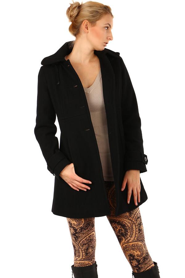 Dámský vlněný kabát s kapucí- i pro plnoštíhlé 4a81d5693e