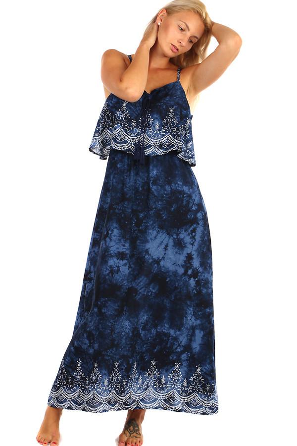 Batikované maxi šaty s potiskem - i pro plnoštíhlé 494d1b5c4f