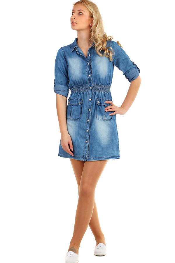b5c3ba65afb Může se Vám také líbit. Dámské džínové mini šaty bez ramínek