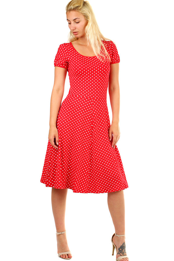 Dámské retro šaty s puntíky 3391ecf4e3f